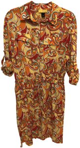 St. John short dress Multi Shirt Silk Summer Sun on Tradesy