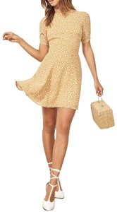 Reformation short dress Mustard Party Summer on Tradesy