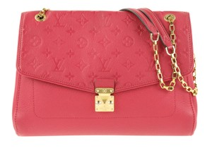 Louis Vuitton Lv Empreinte Saint-germain Calfskin Red Shoulder Bag