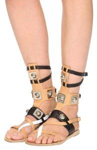 Peter Pilotto natural/ black/ white Sandals