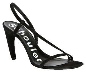 Proenza Schouler Suede Strappy Pumps Black Sandals