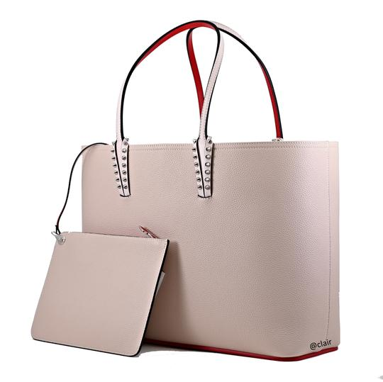 Christian Louboutin Leather Tote in Ballerina Image 1