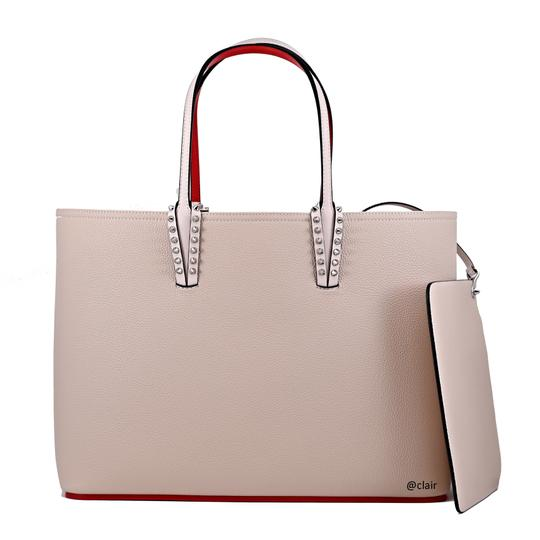 Christian Louboutin Leather Tote in Ballerina Image 3