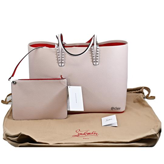 Christian Louboutin Leather Tote in Ballerina Image 5