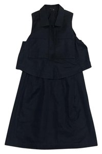Theory A-line Tiered Navy Cotton Dress