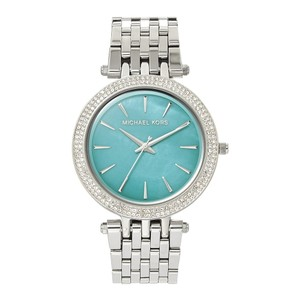Michael Kors Darci Stainless-Steel Three-Hand Watch Mother of Pearl MK3515