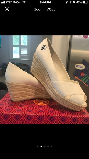 Tory Burch cream with tan heels Wedges Image 1