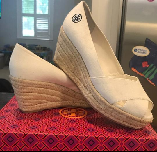 Tory Burch cream with tan heels Wedges Image 2