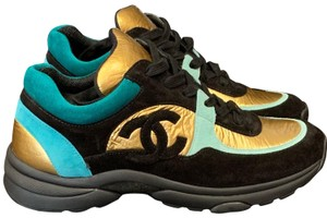 Chanel Black, Turquoise & Gold Athletic