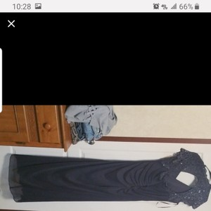 David's Bridal Gray Cloth Formal Bridesmaid/Mob Dress Size 18 (XL, Plus 0x)