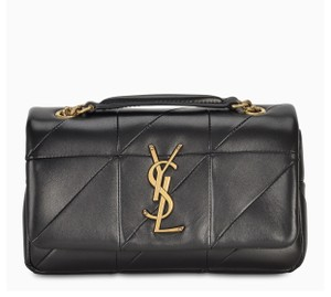 Saint Laurent Leather Drew Chloe Shoulder Gold Chain Cross Body Bag