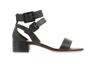 Christian Louboutin Calfskin Leather Black Sandals