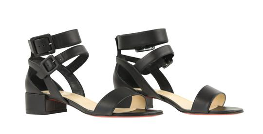 Christian Louboutin Calfskin Leather Black Sandals Image 1