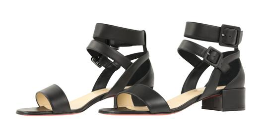 Christian Louboutin Calfskin Leather Black Sandals Image 3