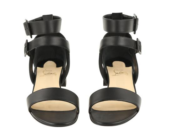 Christian Louboutin Calfskin Leather Black Sandals Image 5