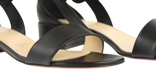 Christian Louboutin Calfskin Leather Black Sandals Image 7