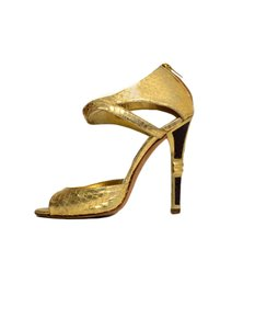 Jimmy Choo Python Sandals Gold Formal