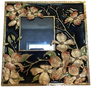 Jay Strongwater Jay Strongwater Square Black Floral Frame