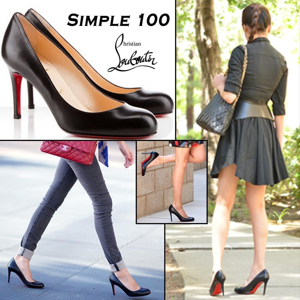 classic fit 99bfd f8e87 Black Simple 100 Leather Pumps