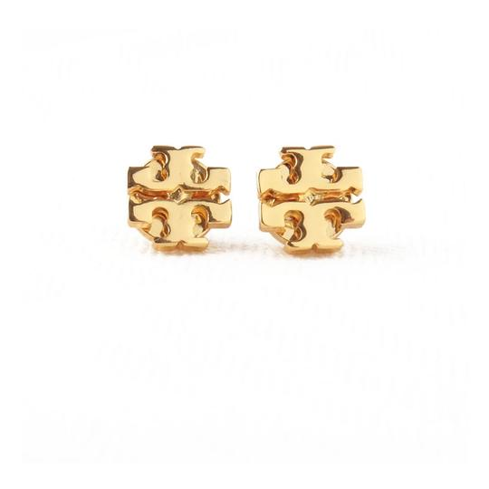 Tory Burch New Tory Burch Small T-Logo Studs GOLD on Card with Dust Cover Image 1