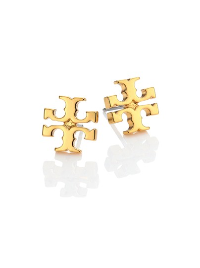 Tory Burch New Tory Burch Small T-Logo Studs GOLD on Card with Dust Cover Image 3