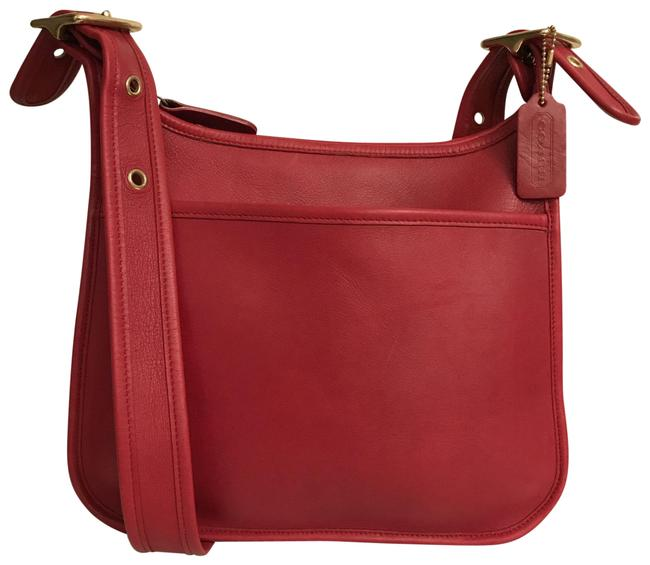 Item - Legacy Vintage 9966 Red Gold Leather Cross Body Bag