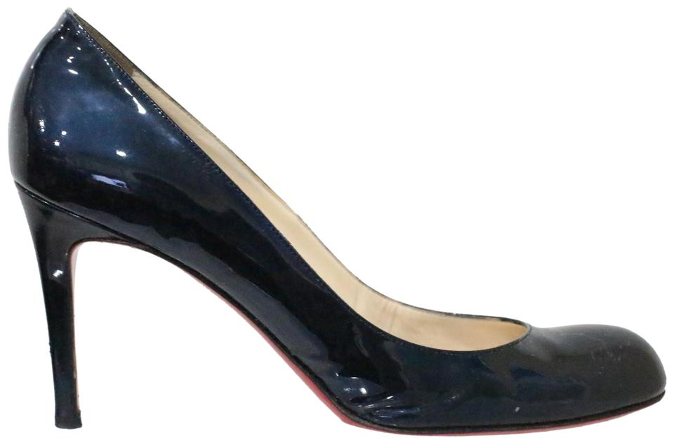 new arrival 7fd60 84c35 Christian Louboutin Blue Simple Patent Leather Pumps Size EU 39 (Approx. US  9) Regular (M, B) 49% off retail