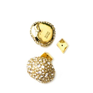 Alexis Bittar BRAND NEW Alexis Bittar Crystal Encrusted GOLD Button Stud Earrings