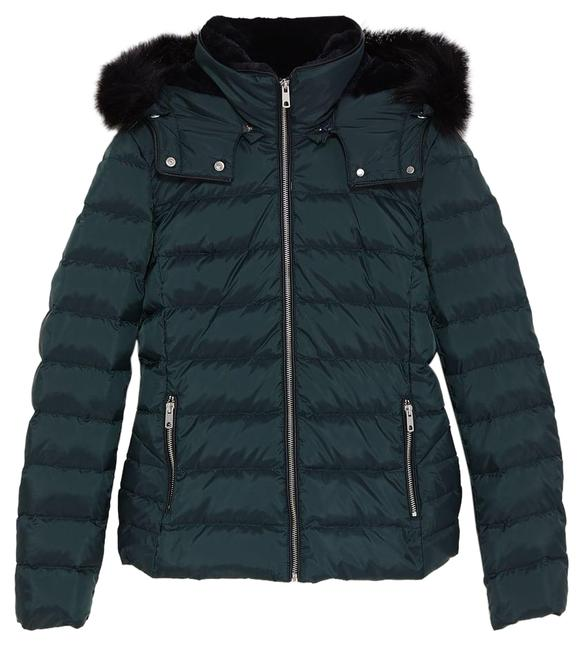 Item - Bottle Green Hooded Down Jacket Small Coat Size 4 (S)