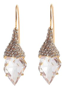 Alexis Bittar pave encrusted shield infinity wire earrings