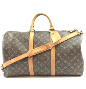 Louis Vuitton Monogram Bandouliere Keepall 50 brown Travel Bag