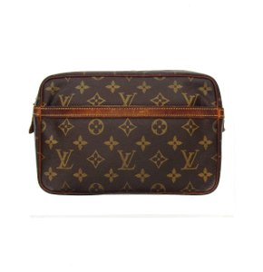 Louis Vuitton Vintage Compiegne 23 Monogram Canvas Leather Makeup Travel Dopp Bag