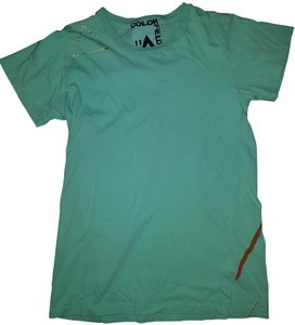 Free City T Shirt Teal / gold accents