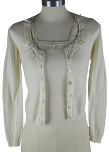 Blumarine Blazer Made In Italy Knitted Lace Cardigan