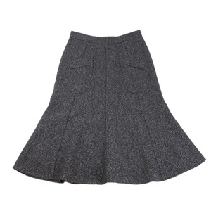 AX Paris A-line Lycra Made In France Axara Skirt Gray