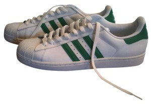 adidas Leather green and white Athletic