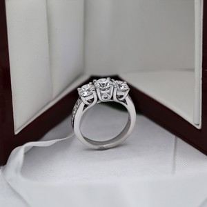 White Gold with 3.00ct. Natural Engagement Ring