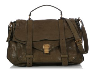 Proenza Schouler Ps.q0521.10 Xl Brass Ps1 Green Messenger Bag