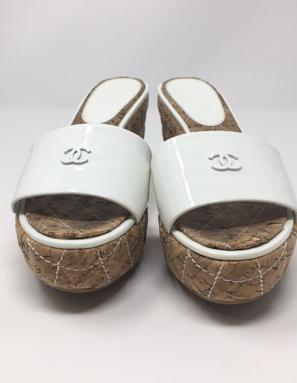 Chanel White Wedges Image 1
