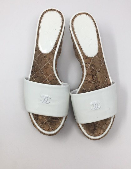 Chanel White Wedges Image 2