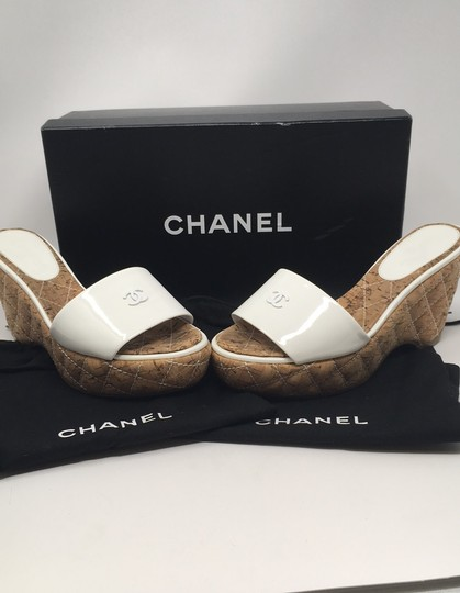 Chanel White Wedges Image 5
