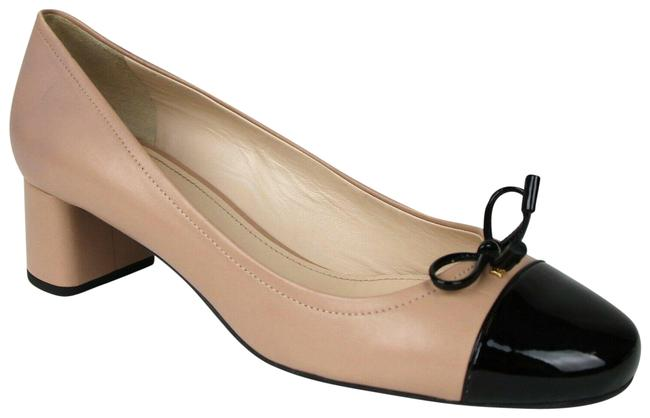 Item - Nude/Black Women's Nude/Black Leather Heel with Bow / 9.5 1i419f Pumps Size EU 39.5 (Approx. US 9.5) Regular (M, B)