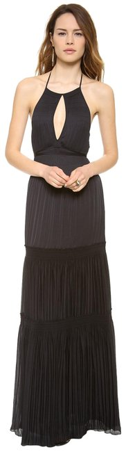 Item - Black Tiered Halter Maxi Long Night Out Dress Size 2 (XS)
