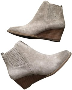 Franco Sarto Suede Casual Wedge Heel Ankle taupe Boots