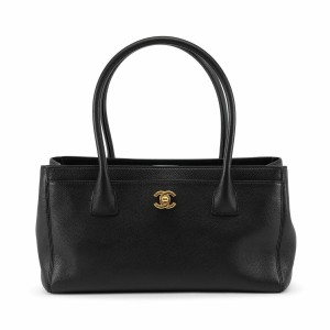Chanel Cc Logo Cerf Tote in Black