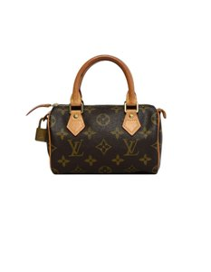 Louis Vuitton Speedy Mini Sac Hl Monogram Coated Canvas Satchel in Brown