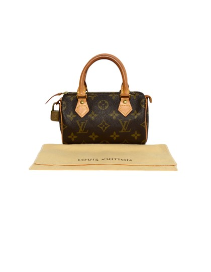 Louis Vuitton Speedy Mini Sac Hl Monogram Coated Canvas Satchel in Brown Image 11