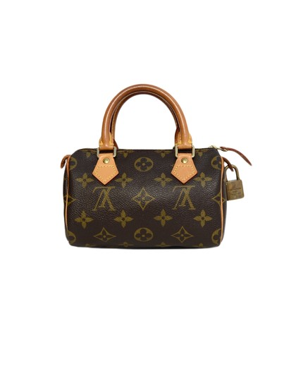 Louis Vuitton Speedy Mini Sac Hl Monogram Coated Canvas Satchel in Brown Image 2