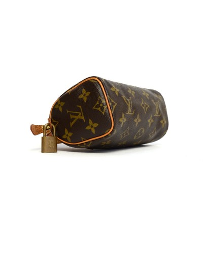 Louis Vuitton Speedy Mini Sac Hl Monogram Coated Canvas Satchel in Brown Image 3