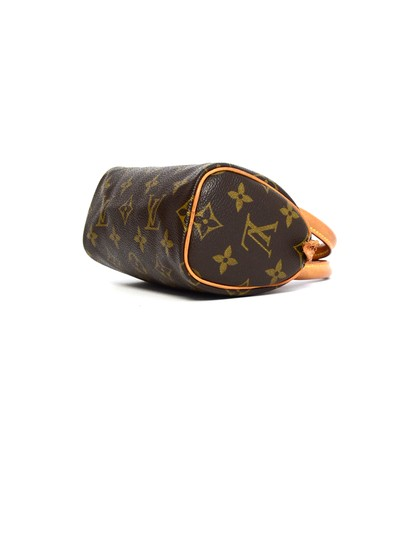 Louis Vuitton Speedy Mini Sac Hl Monogram Coated Canvas Satchel in Brown Image 4